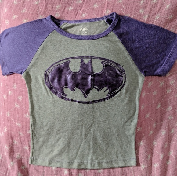 6f8bd597 DC Comics Shirts & Tops | Girls Grey And Purple Batman Shirt | Poshmark